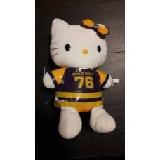 Hello Kitty plüss - sárga-lila 76 feliratú ver. - akciós sérült