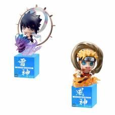 Naruto Shippuuden - Petit Chara Land - Fuujin Naruto Uzumaki & Raijin Sasuke Uchiha teljes szett - 2db figura